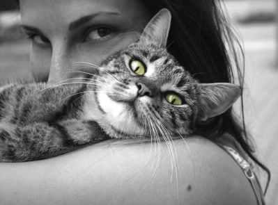 girl emotions pet animals